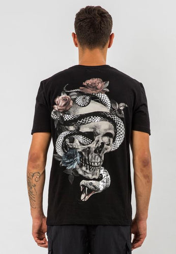 Religion Snake Skull T-Shirt Black