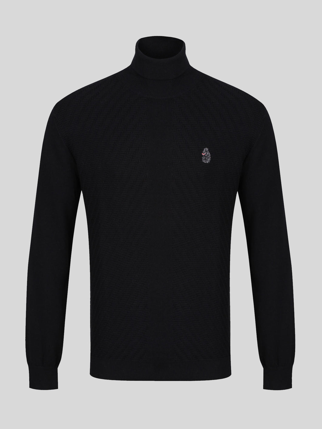 Luke 1977 Trayman Roll Neck Jumper Black