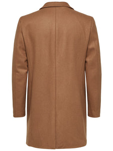 Selected Homme Broke Cashmere Coat Camel