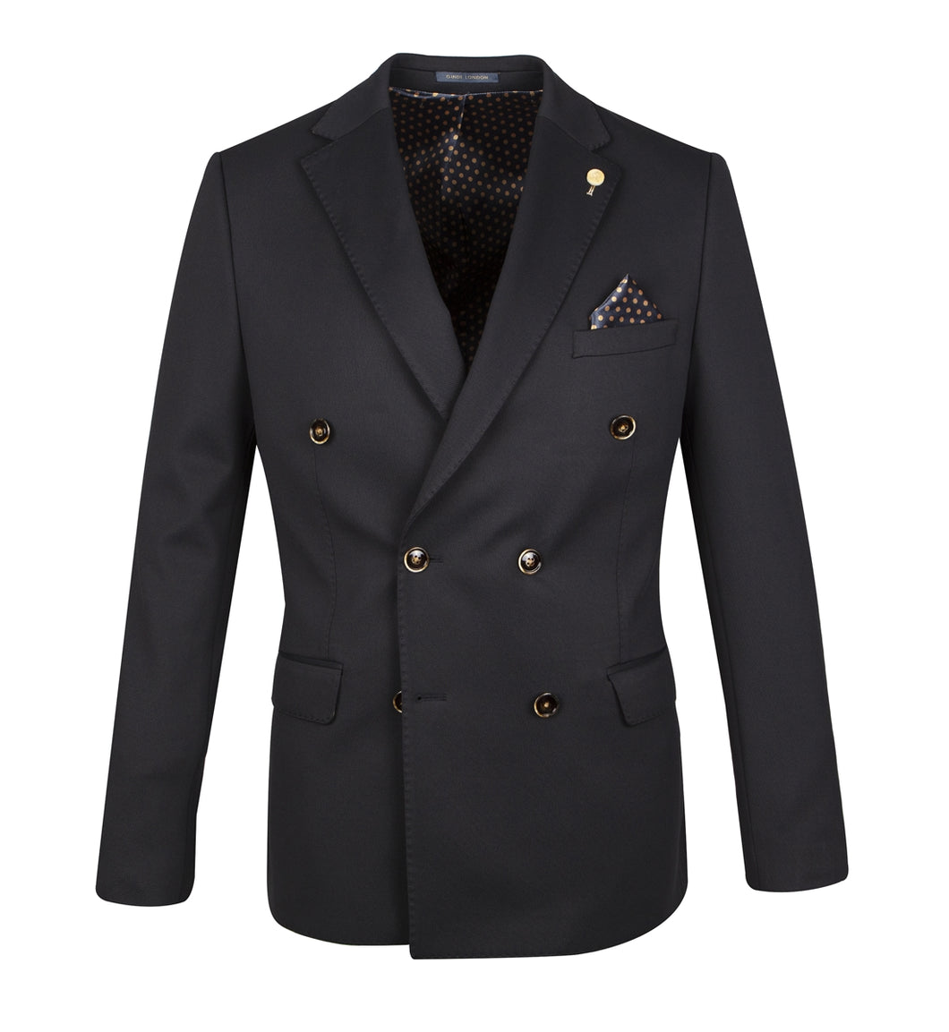 Guide London Double Breasted Jacket Navy