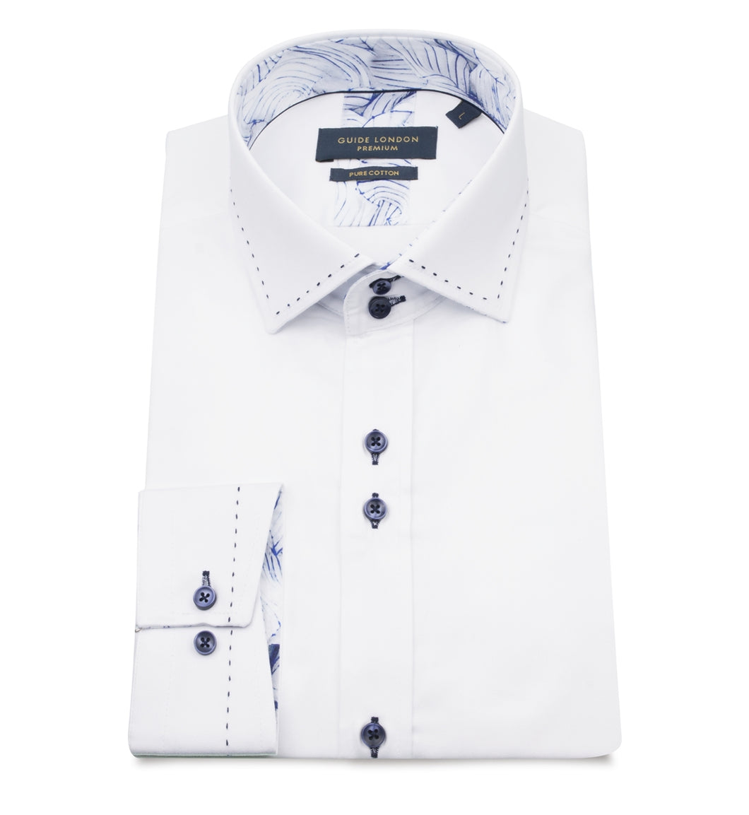 Guide London Tailor Stitch Shirt White