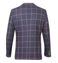 Load image into Gallery viewer, Guide London Checked Jacket Navy Pink