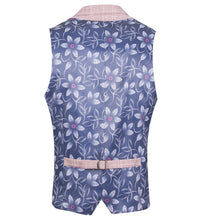Load image into Gallery viewer, Guide London Checked Linen Mix Waistcoat