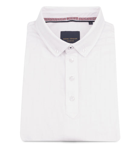Guide London Textured Polo Top White