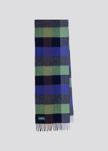 Alan Paine Tangley Scarf Green