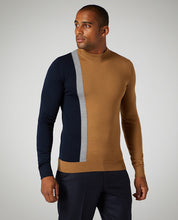 Load image into Gallery viewer, Remus Uomo Turtle Neck Jumper Camel