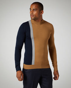 Remus Uomo Turtle Neck Jumper Camel