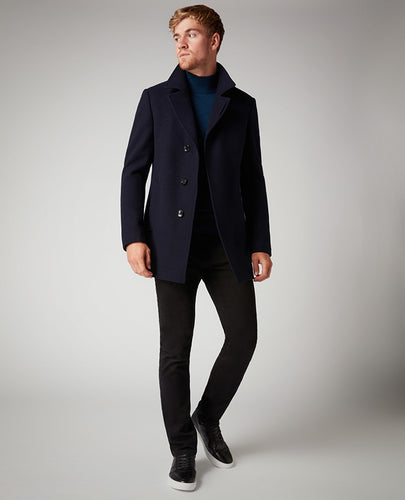 Remus Uomo Wool Coat Navy