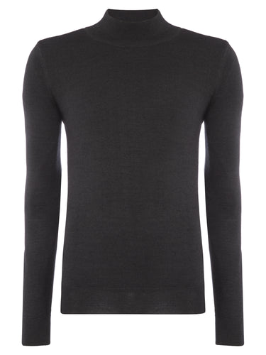 Remus Uomo Turtle Neck Jumper Charcoal