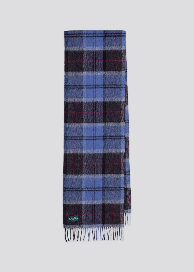 Alan Paine Stowell Scarf Denim Blue