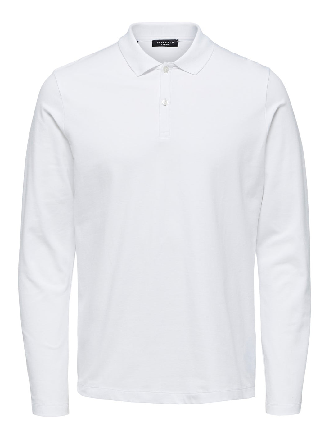 Selected Homme Milano Polo Top White