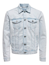 Load image into Gallery viewer, Only & Sons Coin Trucker Denim Jacket Light Blue