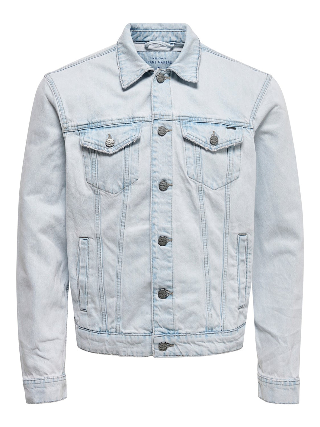 Only & Sons Coin Trucker Denim Jacket Light Blue