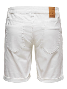 Only & Sons Ply Denim Shorts White