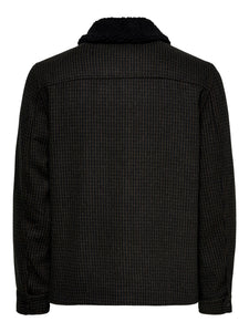 Only & Sons Ross Check Jacket Black