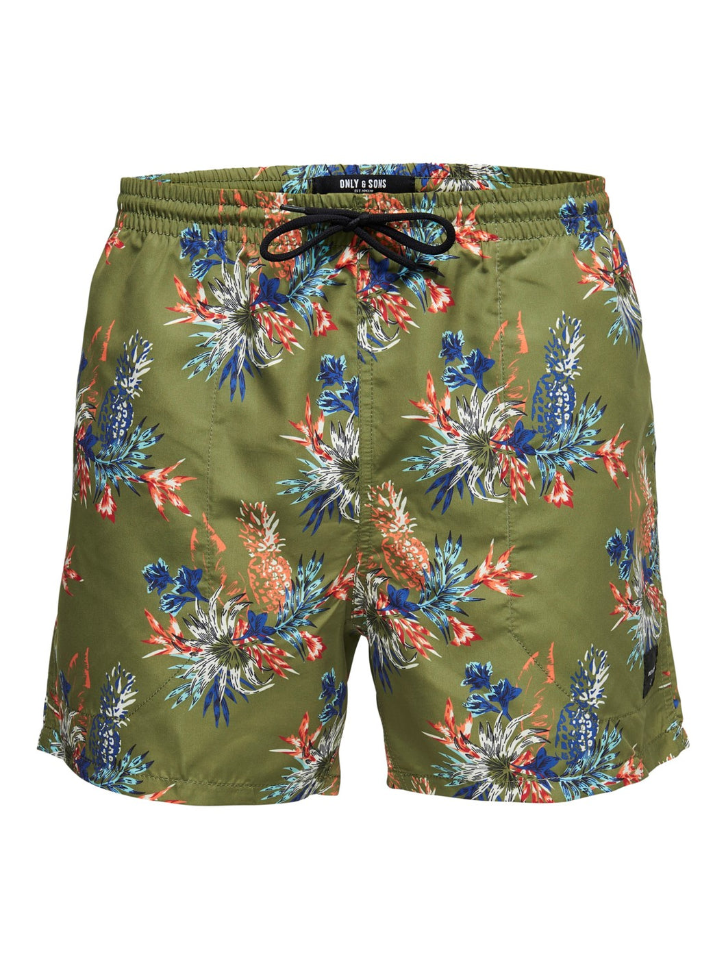 Only & Sons Tan Swimshorts All Over Print Olive