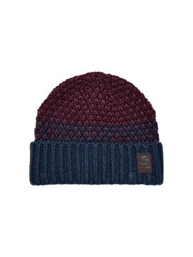 Only & Sons Cenz Beanie Navy and Burgundy