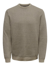 Load image into Gallery viewer, Only & Sons Shamson Jacquard Jumper Cream