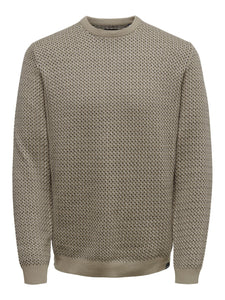 Only & Sons Shansom Jacquard Jumper Cream