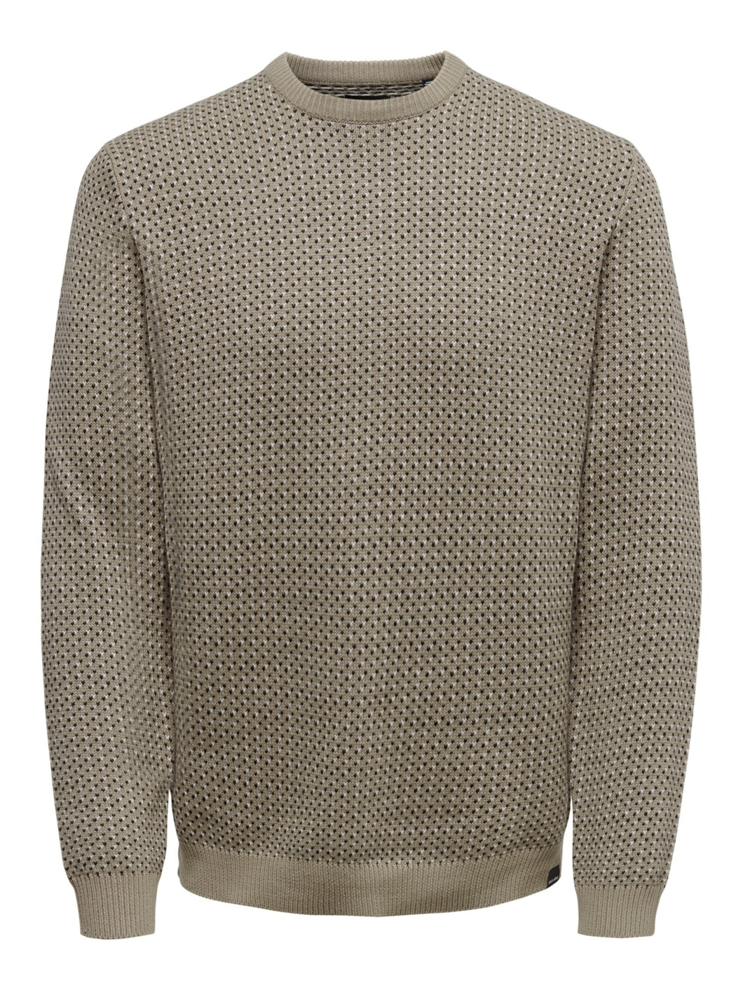 Only & Sons Shamson Jacquard Jumper Cream
