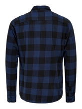 Load image into Gallery viewer, Only & Sons Gudmund Block Check Shirt Navy