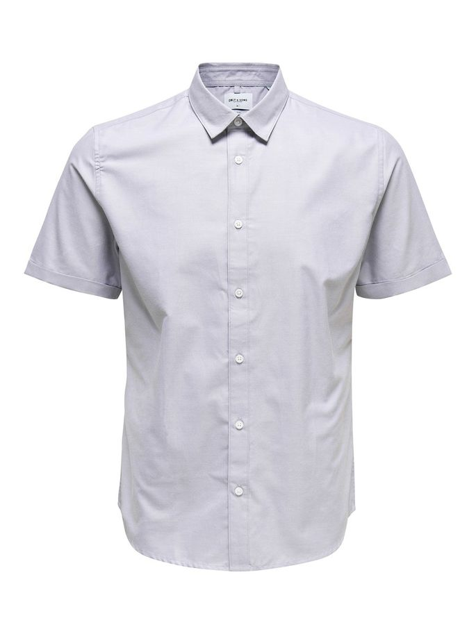 Only & Sons Short Sleeved Oxford Shirt Lilac