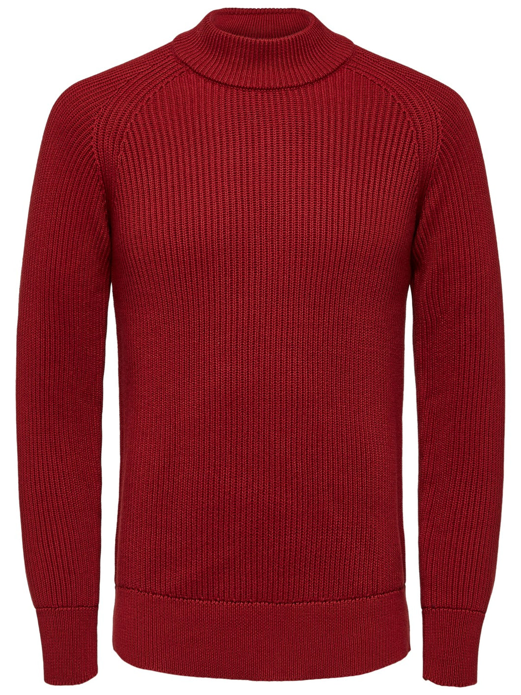 Selected Homme Pix Rib Turtle Neck Jumper Tomato
