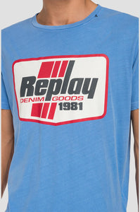 Replay Frame T-Shirt Blue