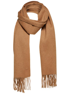 Selected Homme Tope Wool Scarf Camel