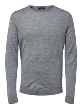 Load image into Gallery viewer, Selected Homme Tower Merino Knit Light Grey