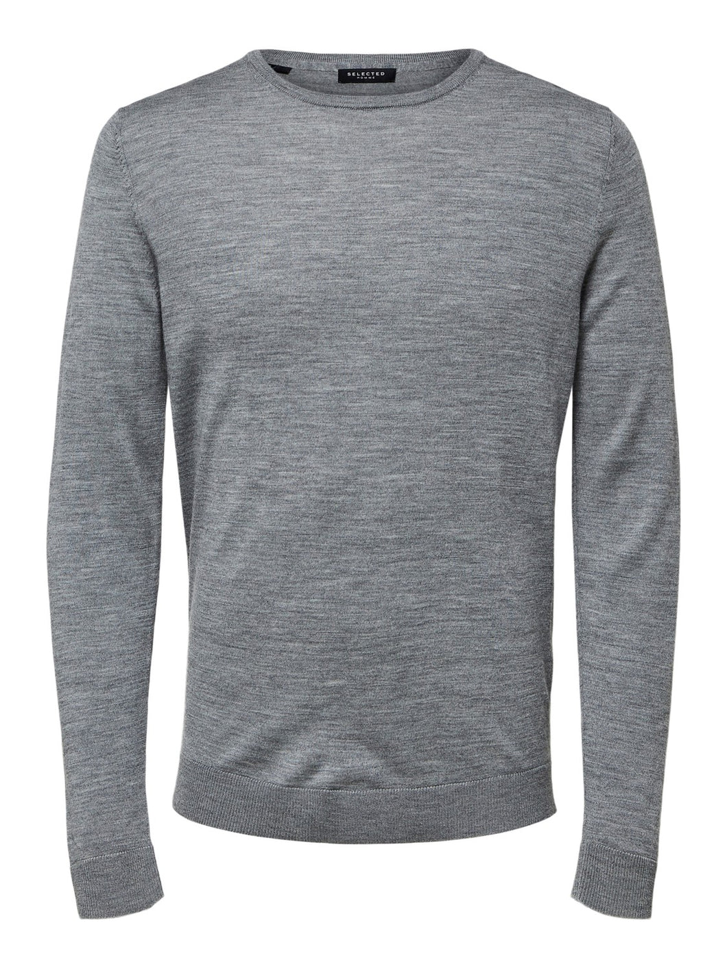 Selected Homme Tower Merino Knit Light Grey