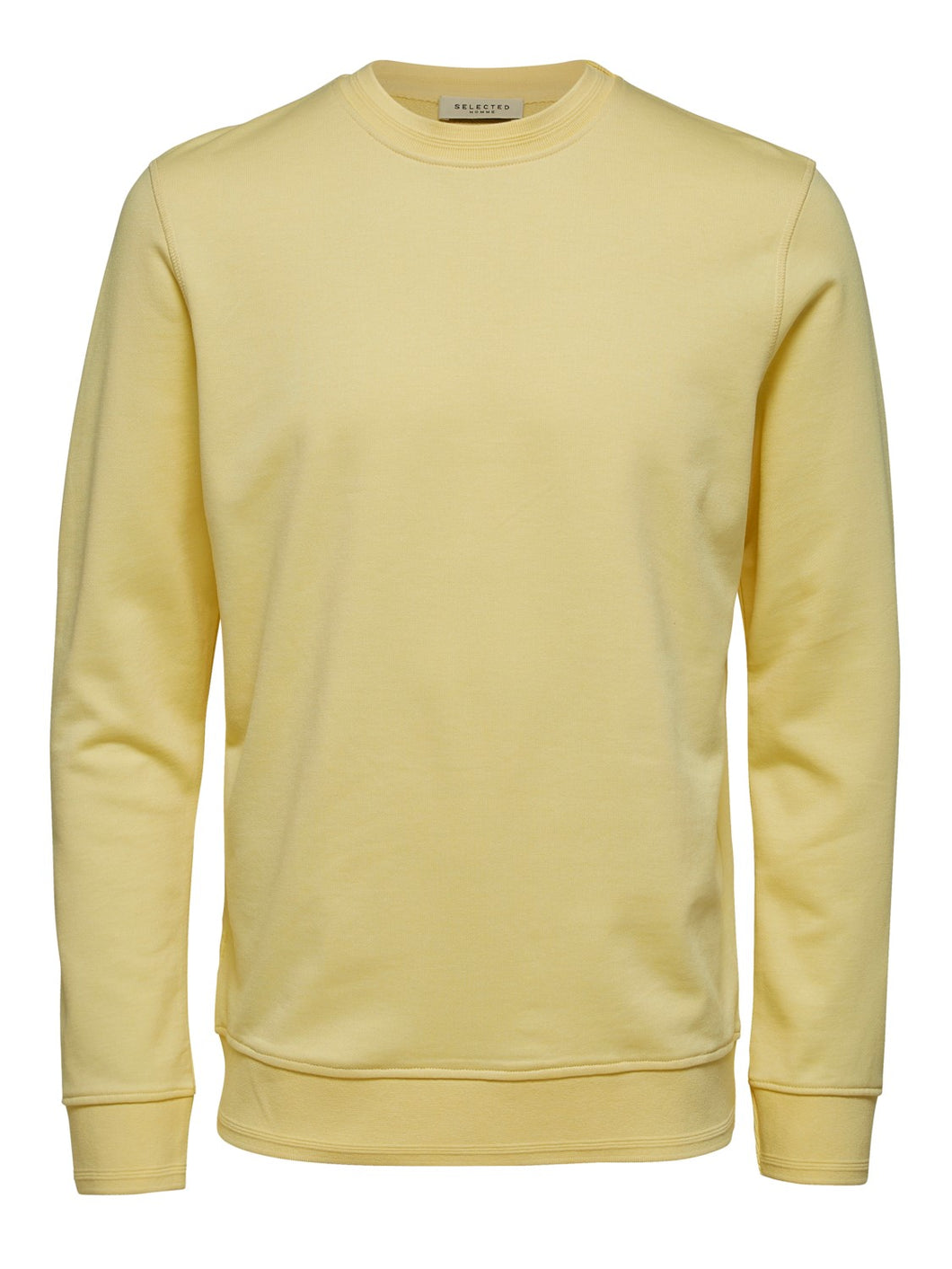 Selected Homme Bono Crew Sweatshirt Lemon