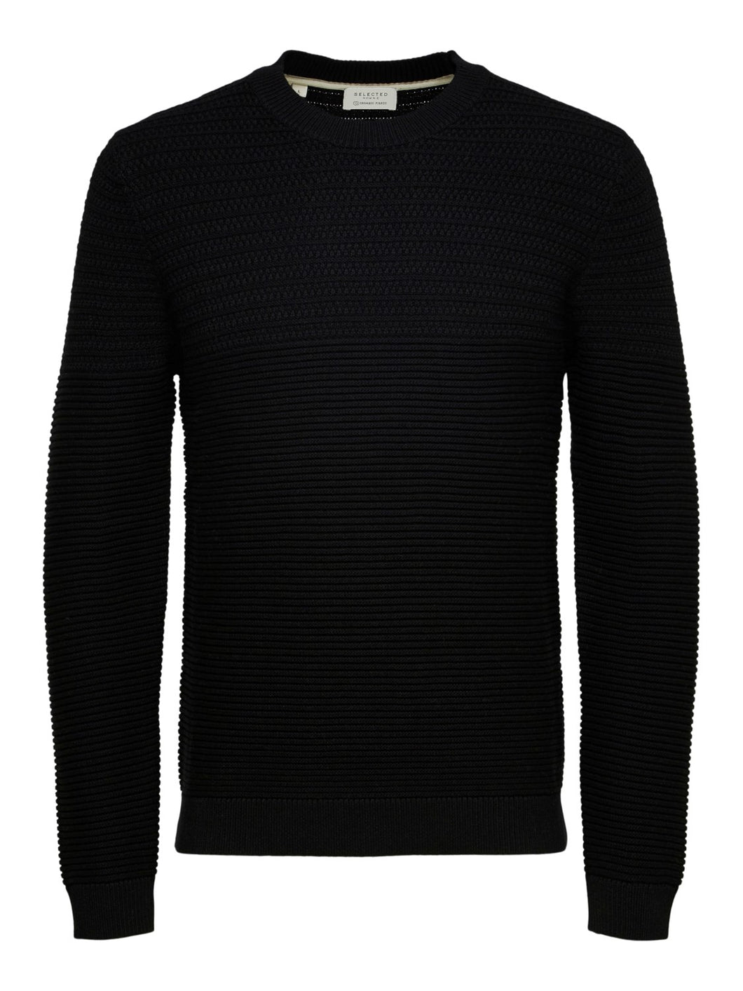 Selected Homme Conrad Textured Jumper Black