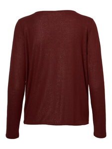 Vero Moda Honey Glitter Wrap Top Brown