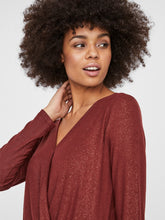 Load image into Gallery viewer, Vero Moda Honey Glitter Wrap Top Brown