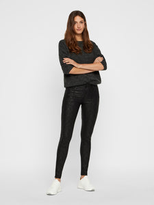Vero Moda Seven Smooth Snake Jeans Black