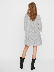 Vero Moda Heli Short Dress White Stripe