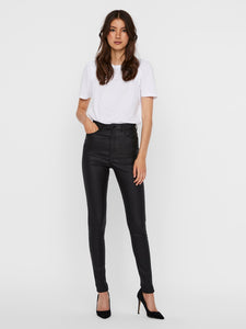 Vero Moda Loa High rise Coated Pant Black