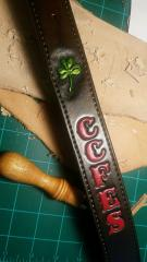 Radio Strap w/ Painted Lettering