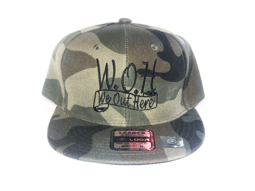 W.O.H We Out Here Camo Snap Back
