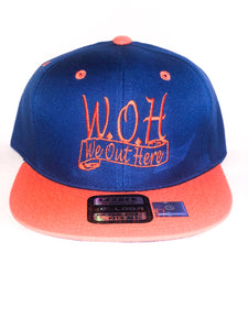 W.O.H We Out Here Blue/Orange Snap Back