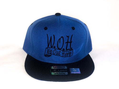 W.O.H We Out Here Blue/Black Snap Back