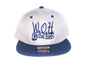 W.O.H We Out Here Gray/Blue Snap Back