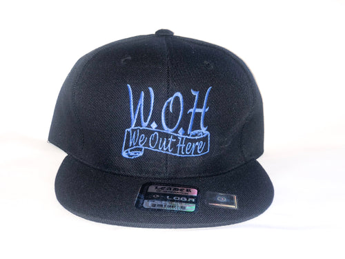 W.O.H We Out Here Black/Blue Snap Back