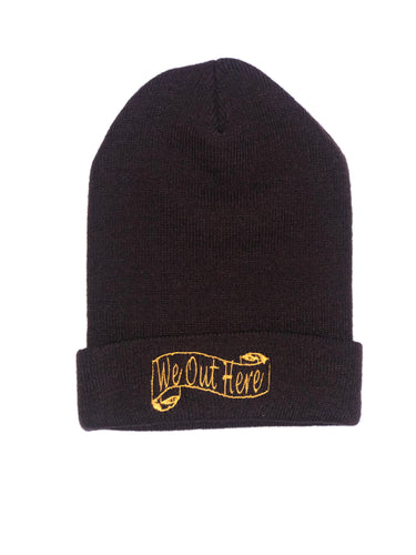 W.O.H We Out Here Beanie (Brown/Yellow)