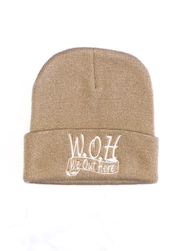 W.O.H We Out Here Beanie (Tan)