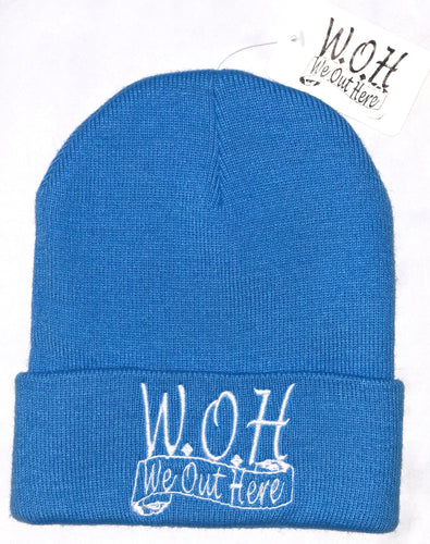 W.O.H We Out Here Beanie (Blue)