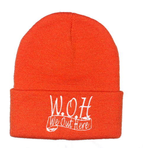 W.O.H We Out Here Beanie (Orange)