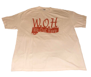 White/Red W.O.H We Out Here Shirt