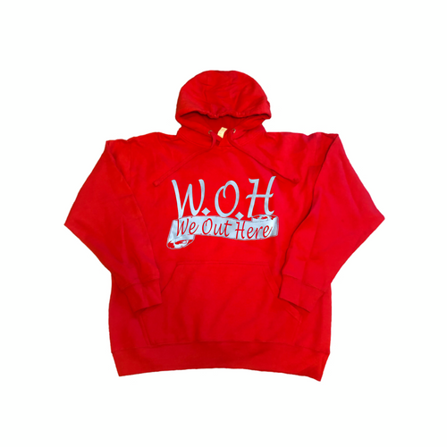 W.O.H We Out Here Hoodie - Red